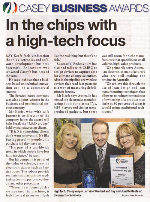 Successful Endeavours - Casey Business of the Year 2010