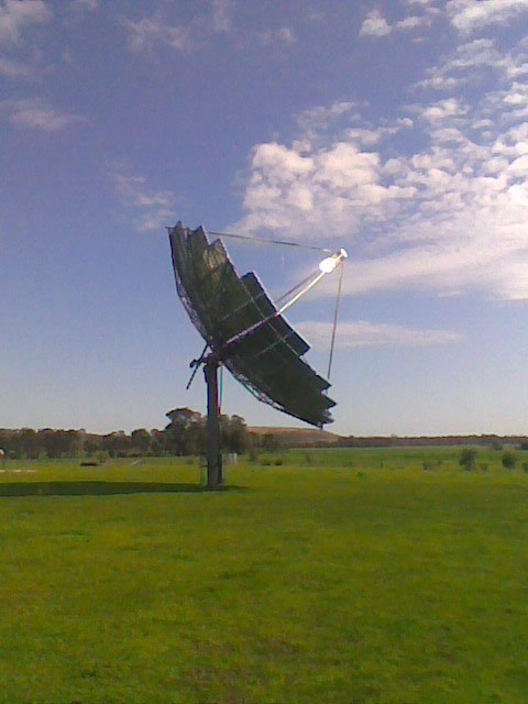 Solar Systems Dish On Sun At Fosterville
