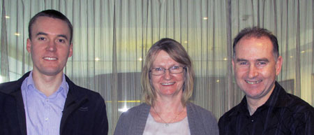 Arend Carter, Junette Keefe and Ray Keefe