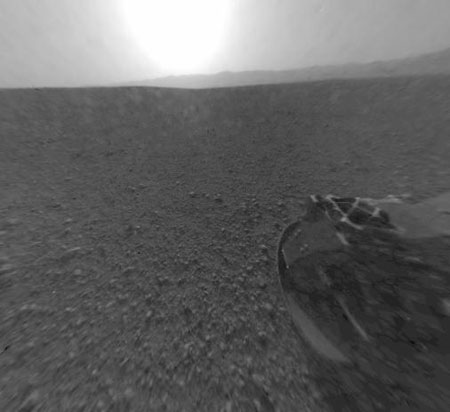 Curiosity On Mars after successfully landing