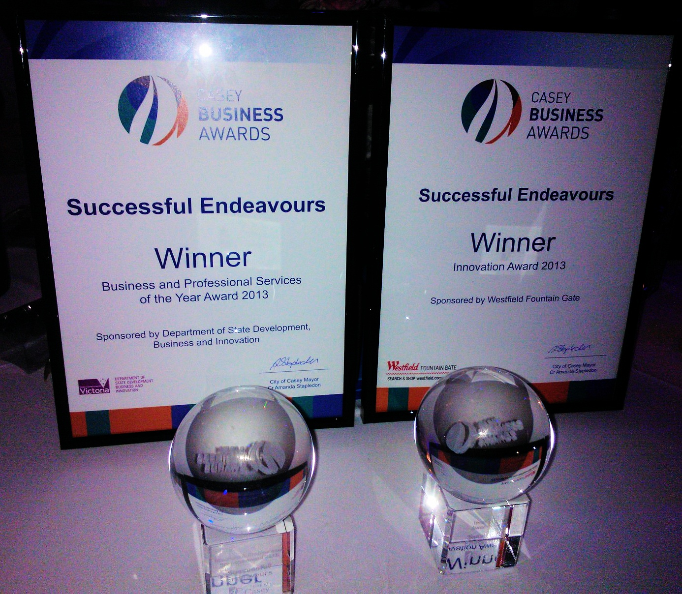 Casey Business Awards Winners 2013
