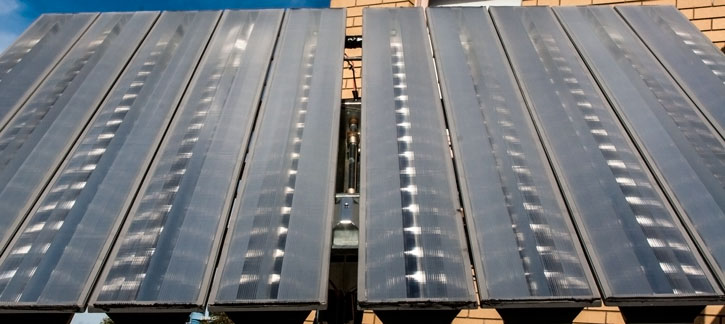 Concentrated Solar Panel Array