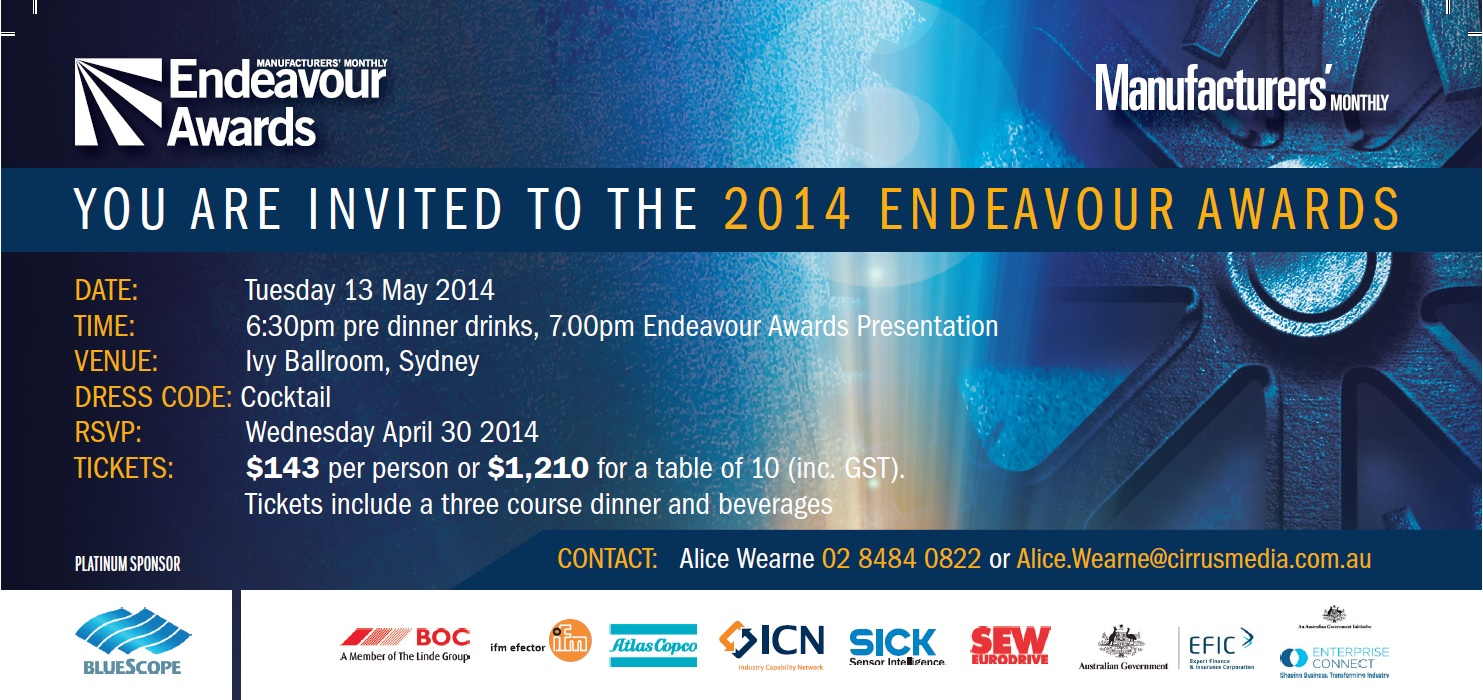 Endeavour Awards Finalist 2014