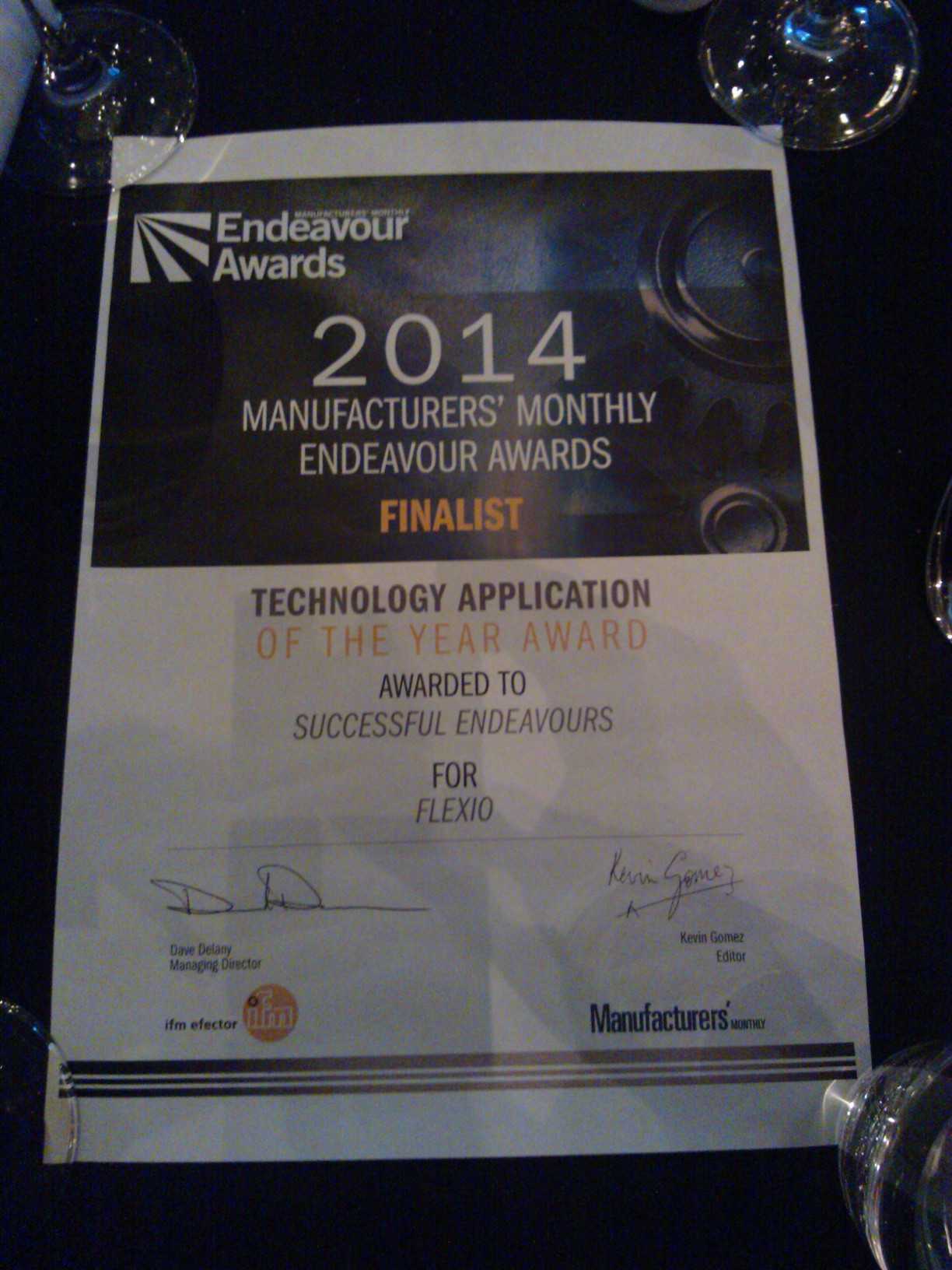 Successful Endeavours - Technology Application of the Year - finalist