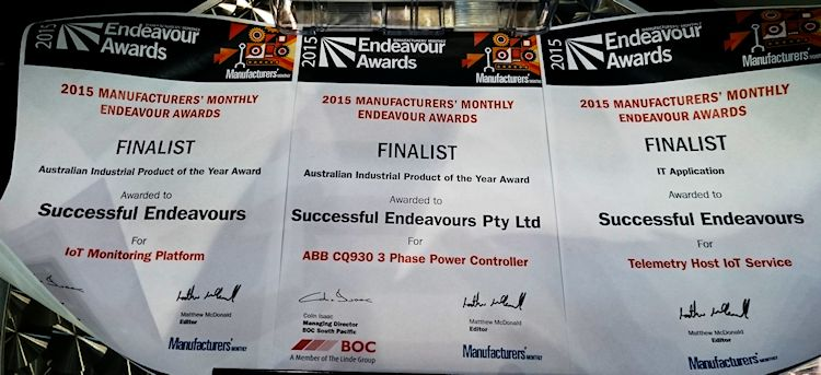 Endeavour Awards Finalists 2015