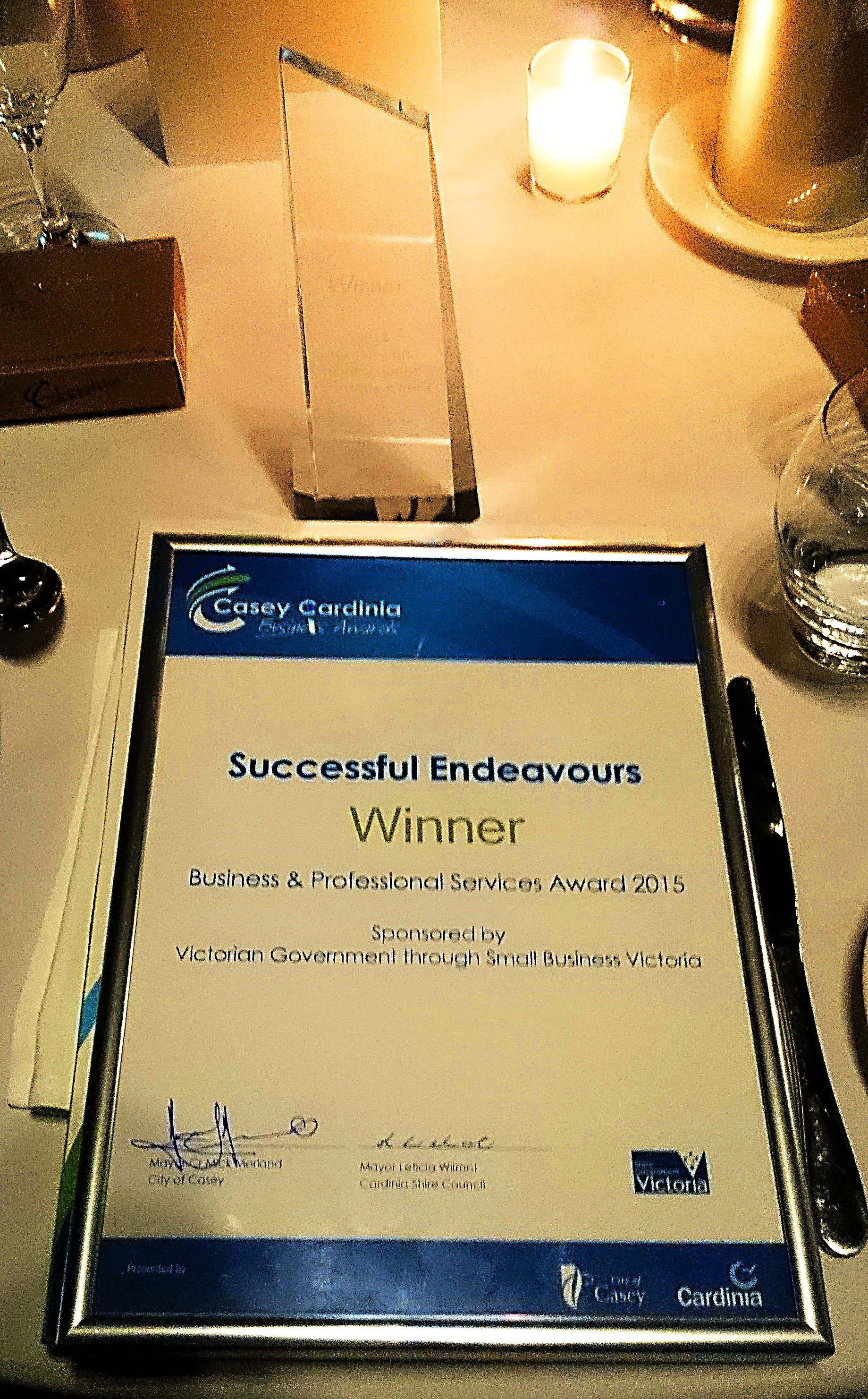 Casey Cardinia Professional Services Award 2015