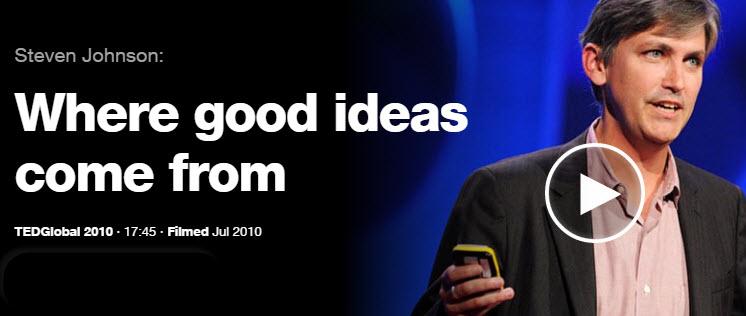 Steven Johnson - TED Talks - Where Do Good Ideas Come From