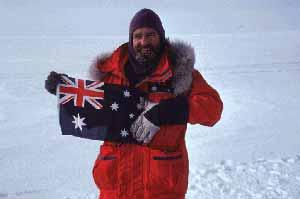 Graeme Joy with Australian Flag