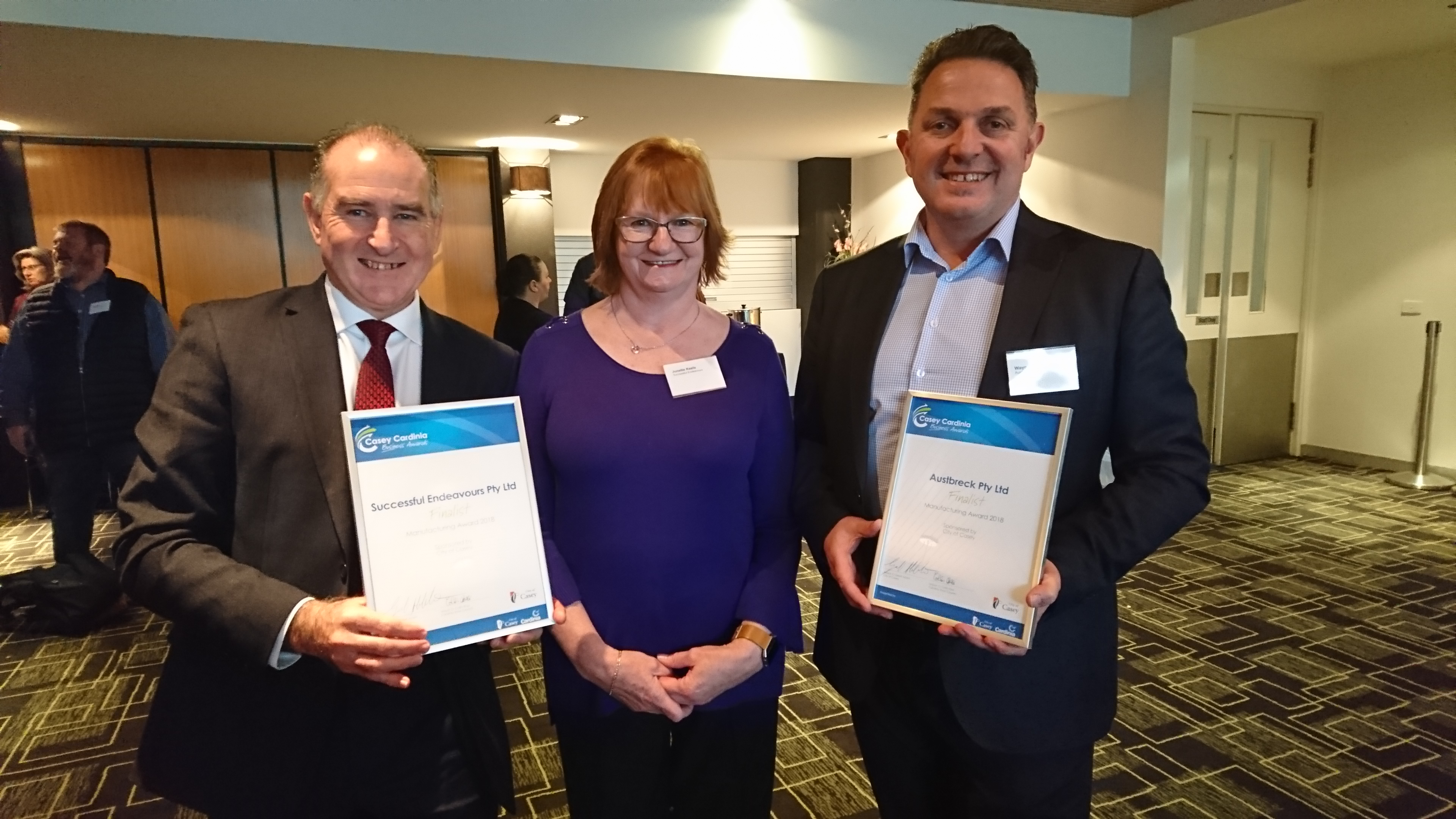 Successful Endeavours and Austbreck - Manufacturing Finalists 2018