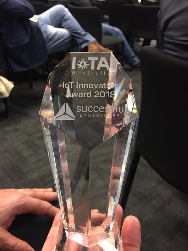 IoT Innovation Award 2018 Trophy